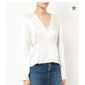 Alexander wang silk blouse